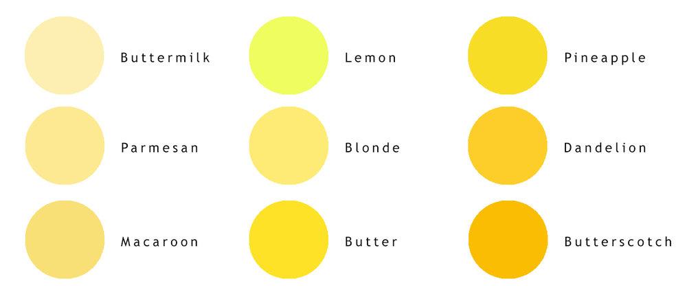 variations de jaunes