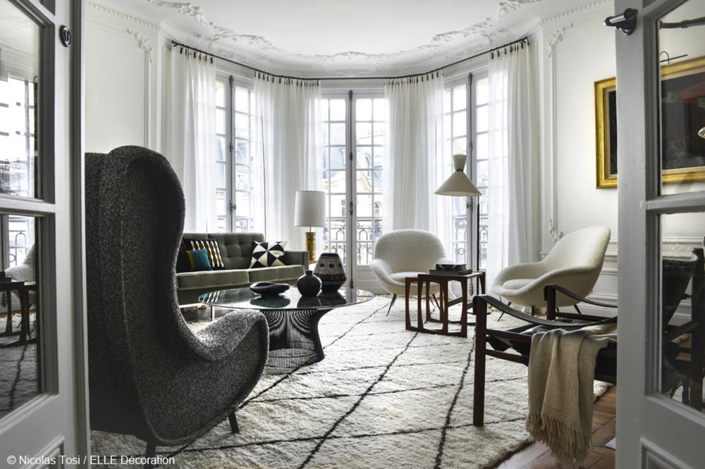 Typical Parisian apartment for  Elle Décoration