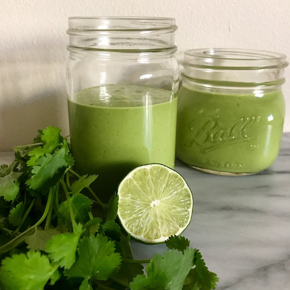 Mango Madness Smoothie with Lime and Cilantro