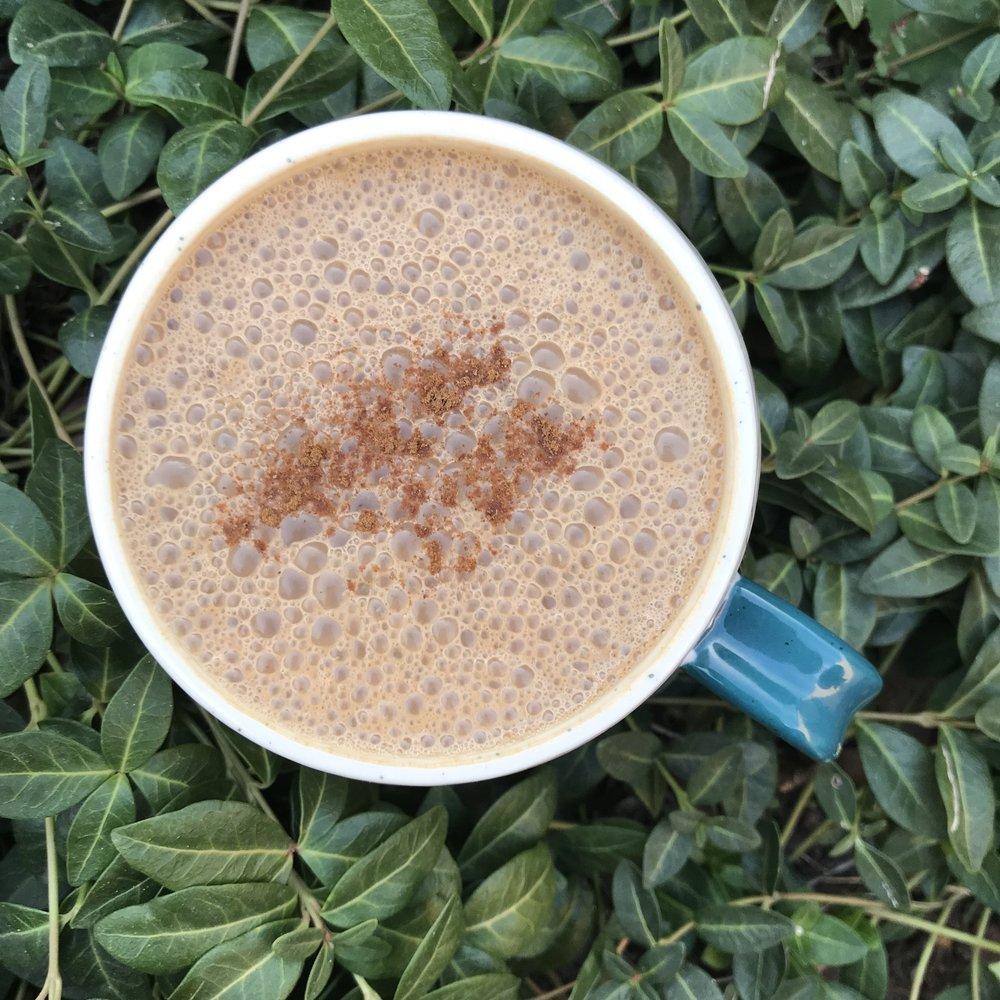 Coffee-less Mushroom Maca Mocha