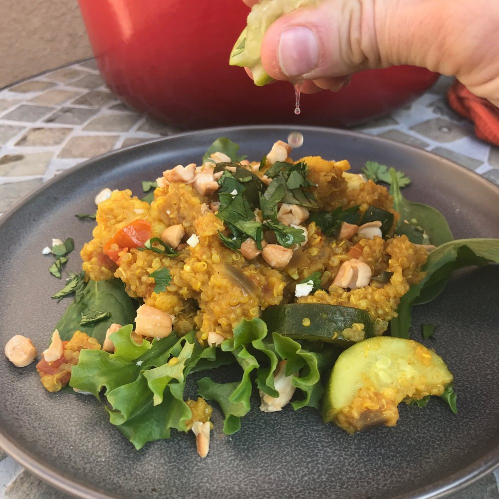Lime on Curry Quinoa
