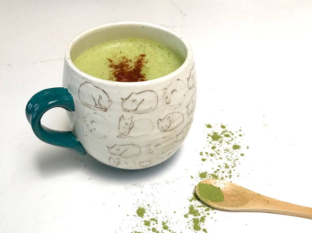 matcha with spoon