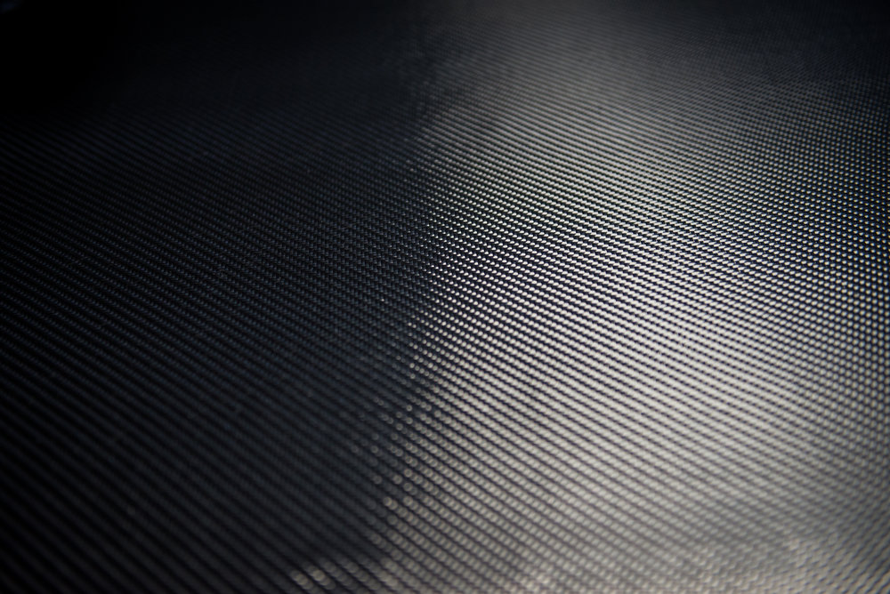 We start out with raw carbon fiber