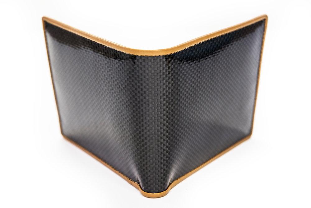 Carbon fiber Wallet Beige