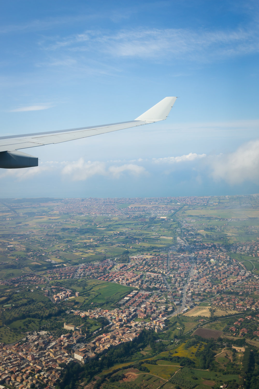 Flying into Rome International Airport on May 9, 201