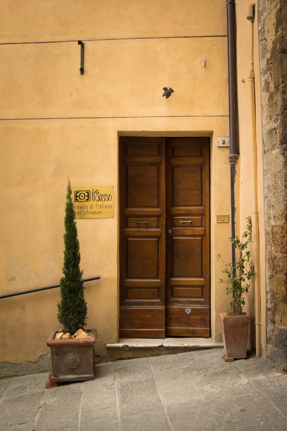 Il Sasso, Italian Language School - our meeting place for classes.