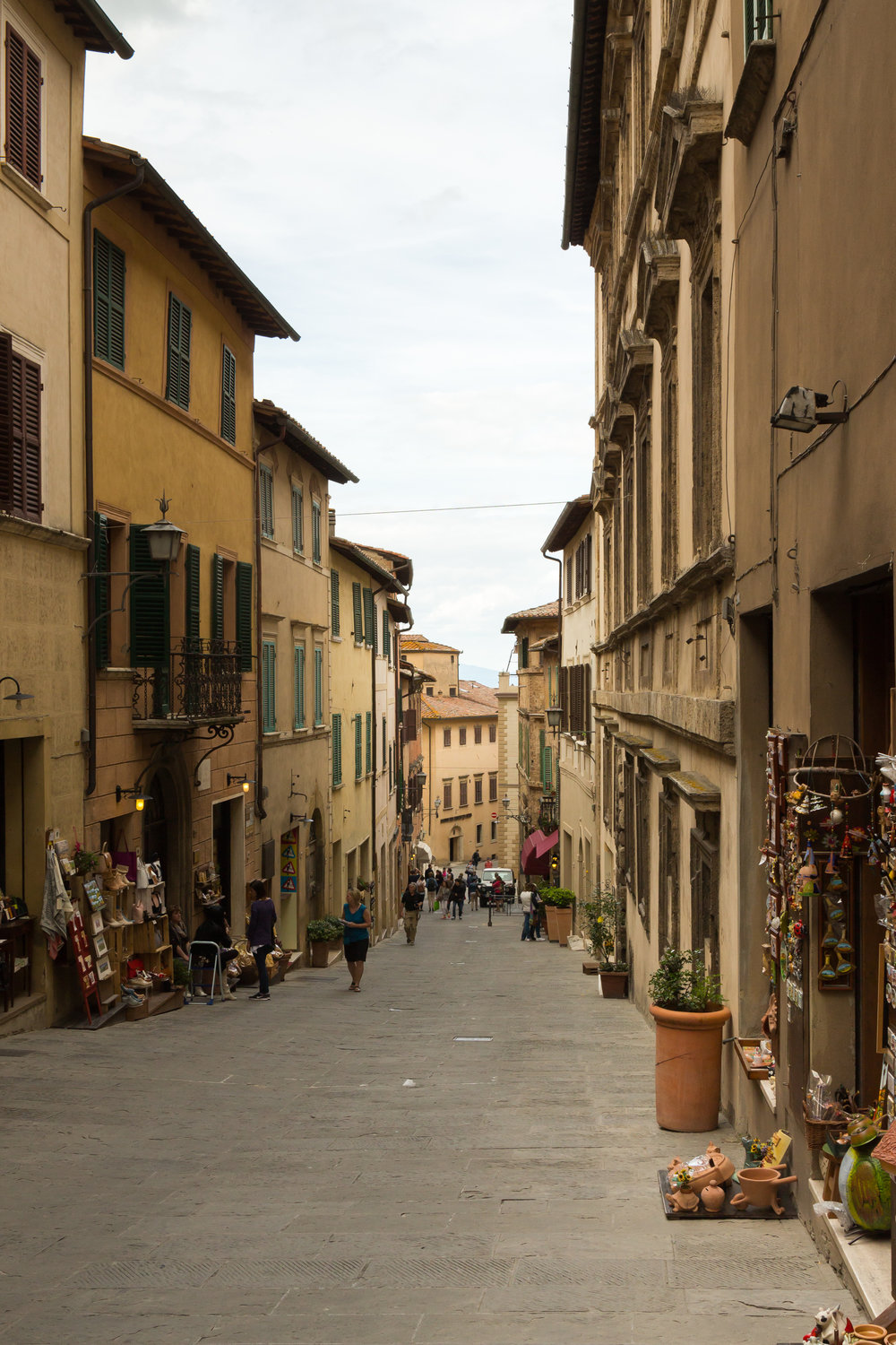 The streets in Montepulciano