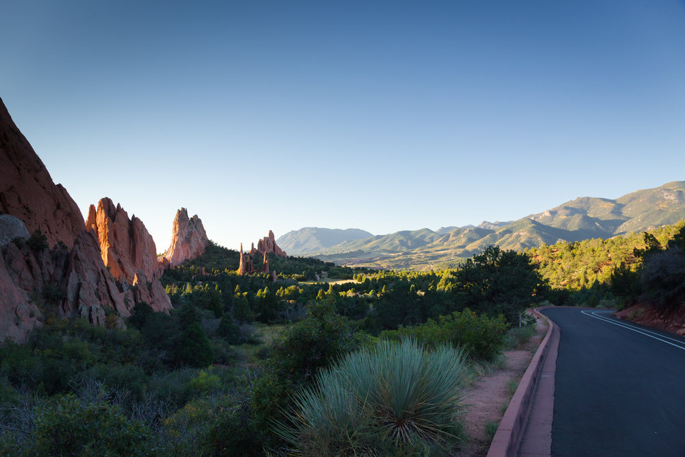 The Garden of the Gods in the early morning light