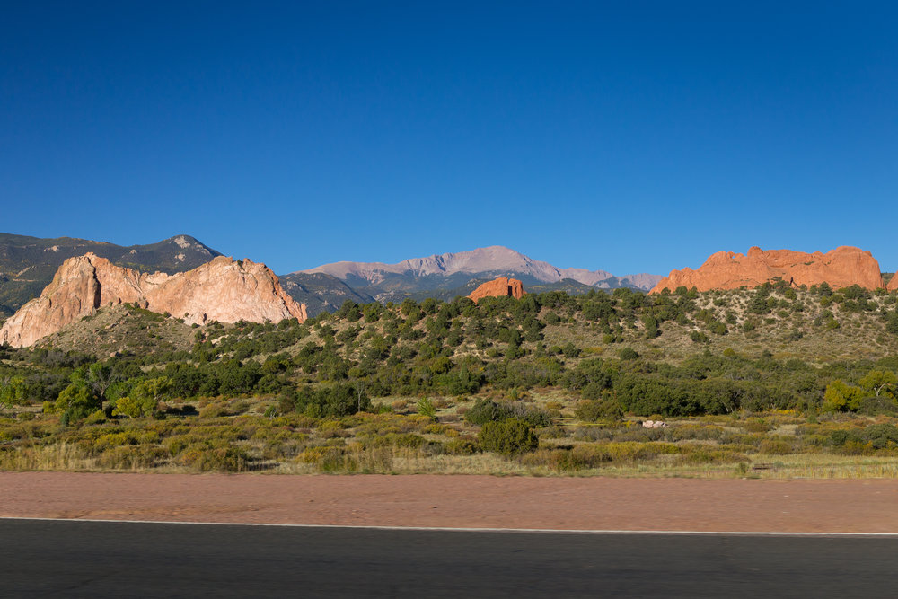 A view of the Garden of the Gods - the mountainous, rugged, dusty red rock landscape inspired me at every turn. The desert entranced my senses.