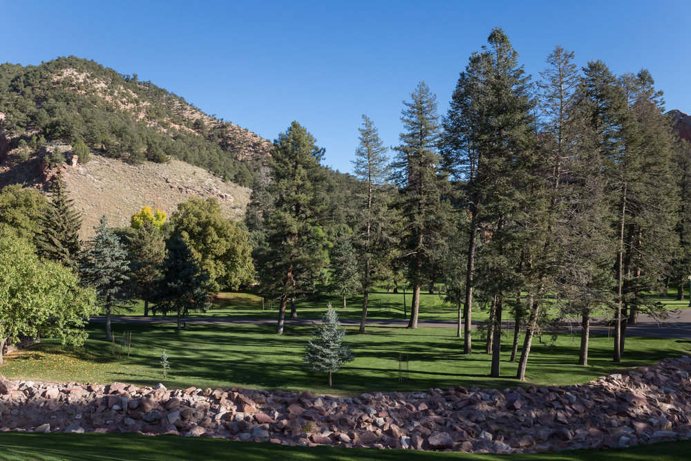 The view from the patio at Glen Eyrie
