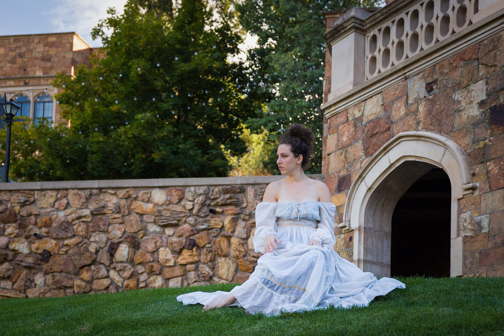 Lindsey Adler kindly modeling for a group of photographers out on the lawn at Glen Eyrie - what a larger-than-life inspirational educator!
