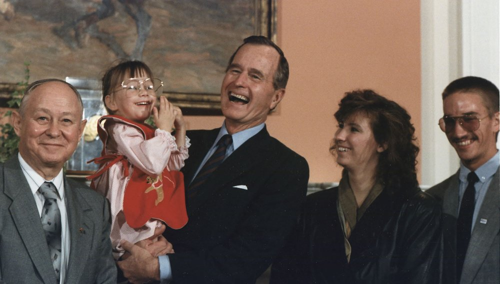 Importance of Storytelling: Baby Jessica with President George Bush
