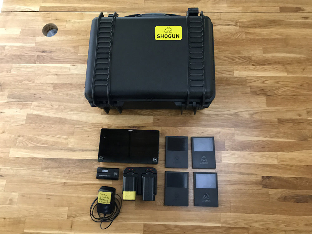 Atomos Shogun 4k Kit. Mint condition and a powerful option for getting raw files directly from your camera. We love these with Canon and Sony cameras. Comes with a 120GB SSD plus all accessories shown. $1,700US new. Asking $1,300US (Shipped), SKU=SM041