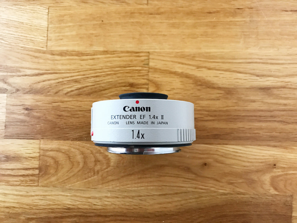 Canon Extender EF 1.4 II. A great small tool to add versatility to your lenses (especially if you're a prime shooter). $100US (Shipped), SKU=SM042