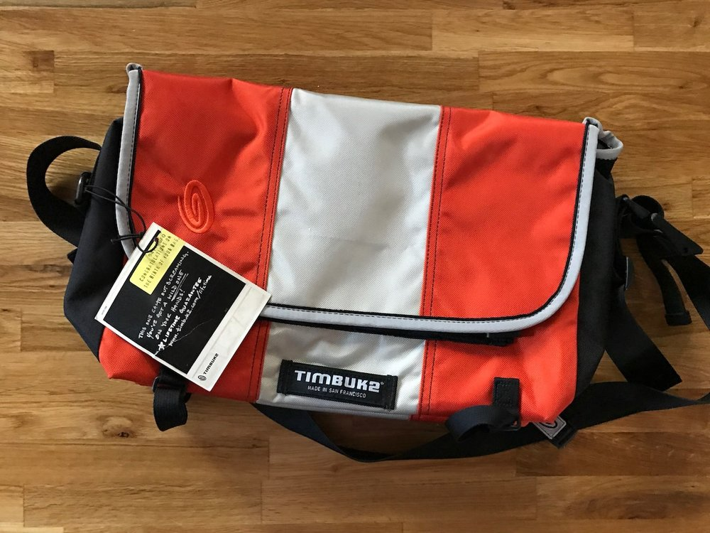 """timbuk2 messenger bag for 13"""" computer. This was a custom made for stillmotion and never used. just $60US (shipped), sku=sm046"""