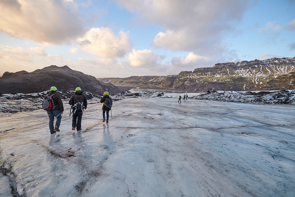 Team Iceland taking on a glacier. Photo by Bruce Lomasky.