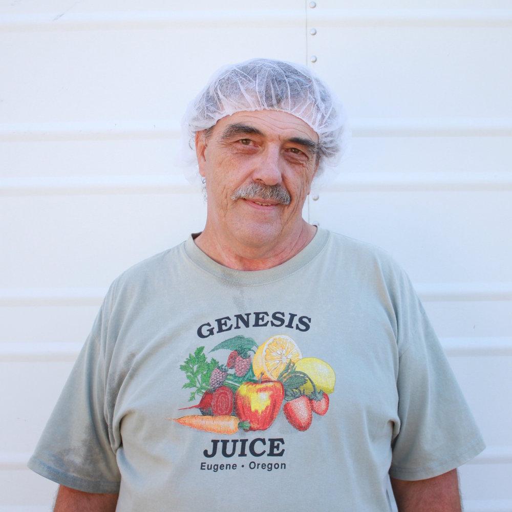 Dale,HACCP man History:An original Genesis Juice Co-Op founding owner in 1975, helping us keep true every day! Favorite Juice:Strawberry Lemonade