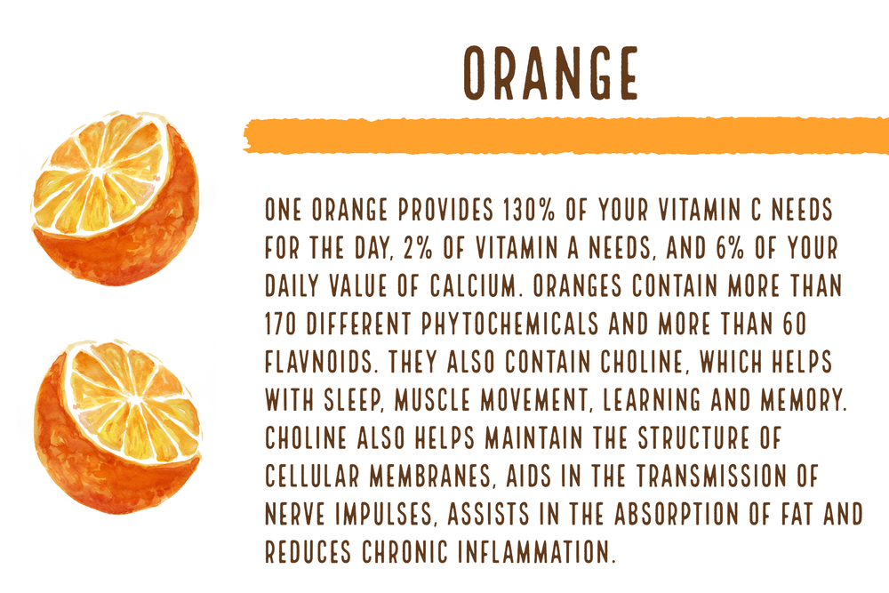 Fun Fact: It takes 5 whole oranges to make one bottle of Genesis Organic Orange Juice!
