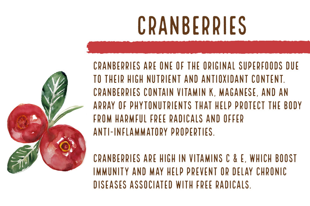 Cranberries: One of the original superfoods!