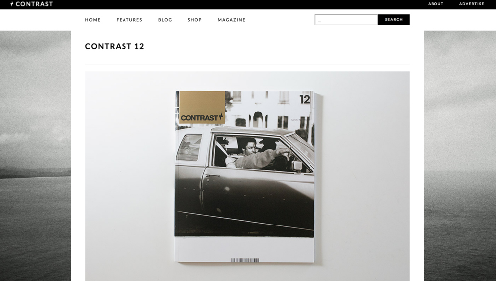 CONTRAST MAG.  Editorial spreads, issue 11 & 12