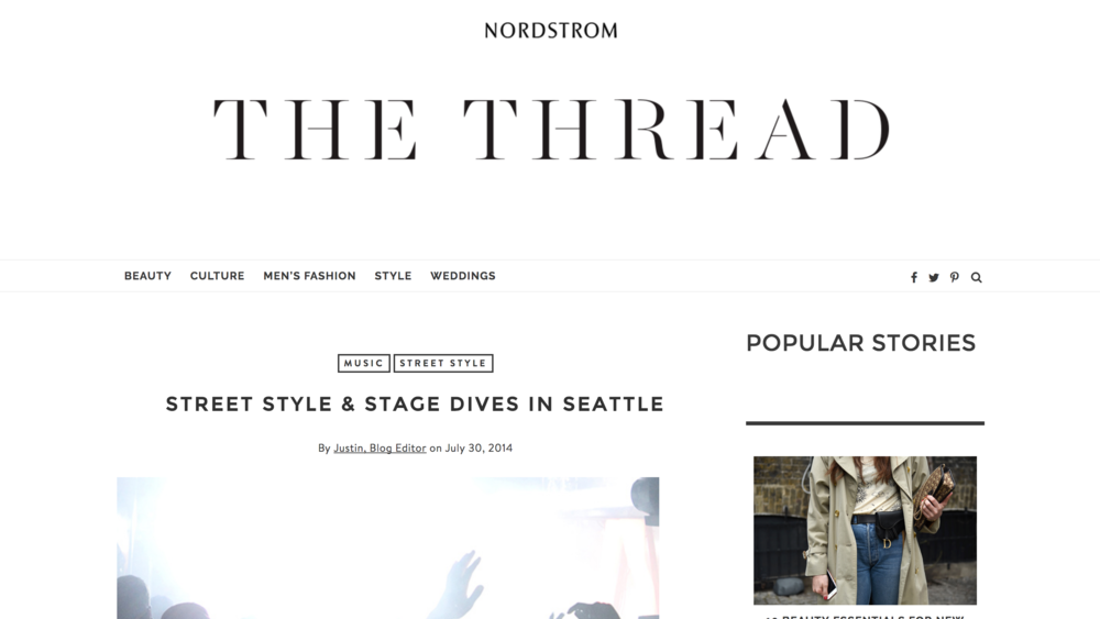 NORDSTROM'S  THE THREAD.     Capitol Hill Block Party .