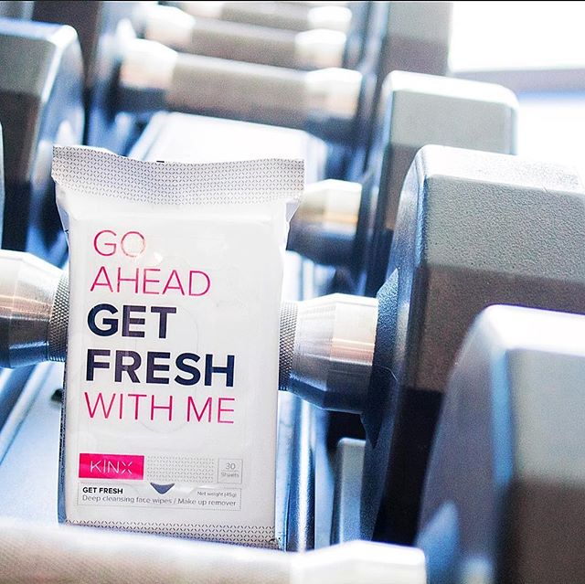 "End your workout with a fresh look. We know the gym can be grimy 🤢, but what better way to ""GET FRESH"" ☀️😁 than with our KINX wipes that melt away all makeup and sweat in just one use. . . . . . #KINX #GymRat #Gymlife #fitness #getfresh #kinxactive #makeup #wipes"
