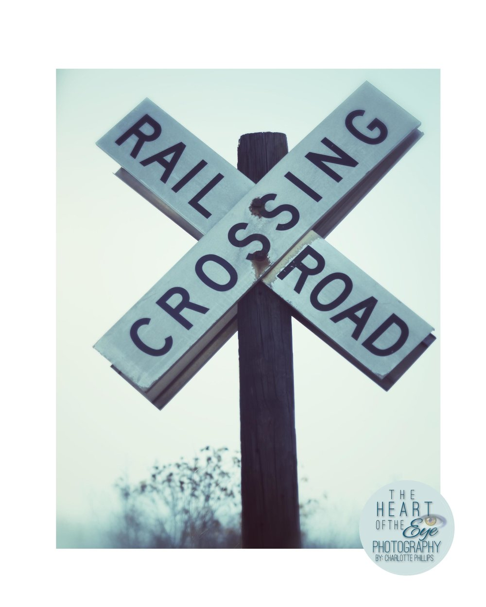 Old Vintage Railroad Crossing Sign, Birmingham Alabama