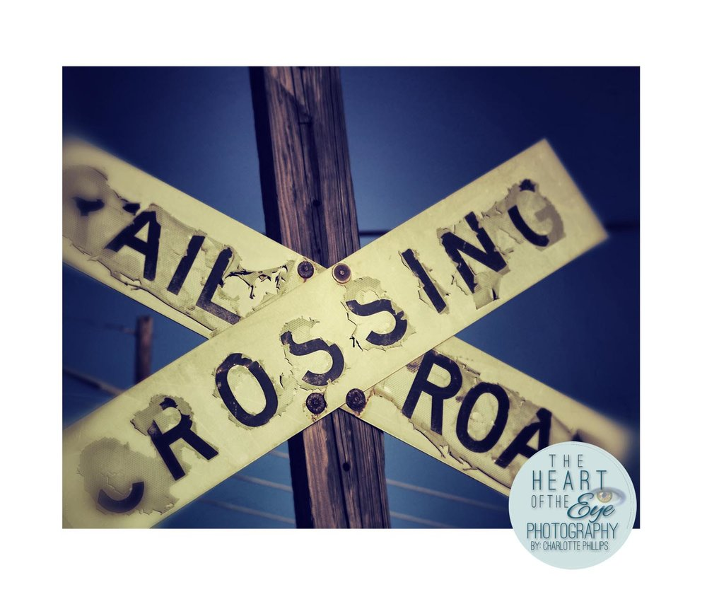 Old Vintage Railroad Crossing Sign