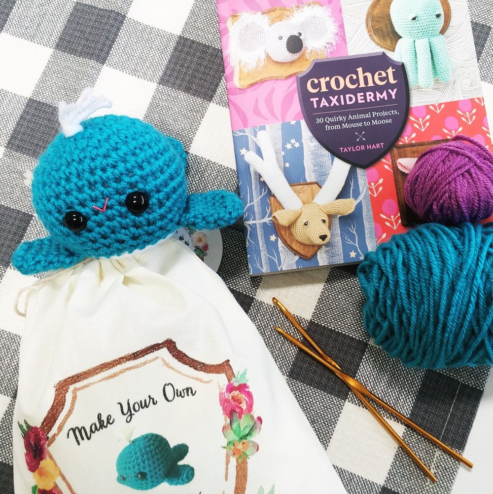 I also designed seven crochet DIY kits with the help of Lauren Cooke. It was a lot of work but we made it happen.