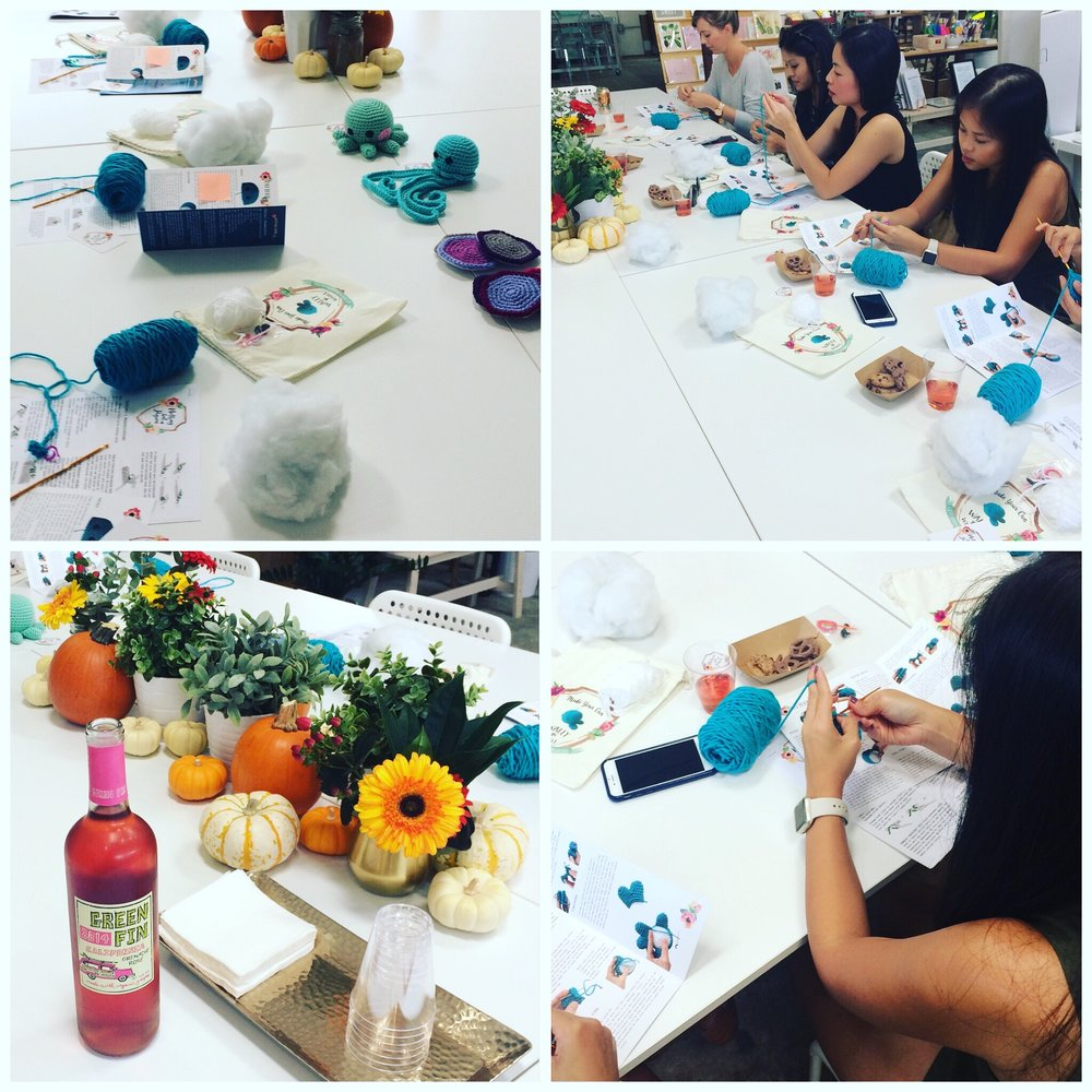 I held yet another crochet workshop at the Paper + Craft Pantry this time using my new kits. It was a success!