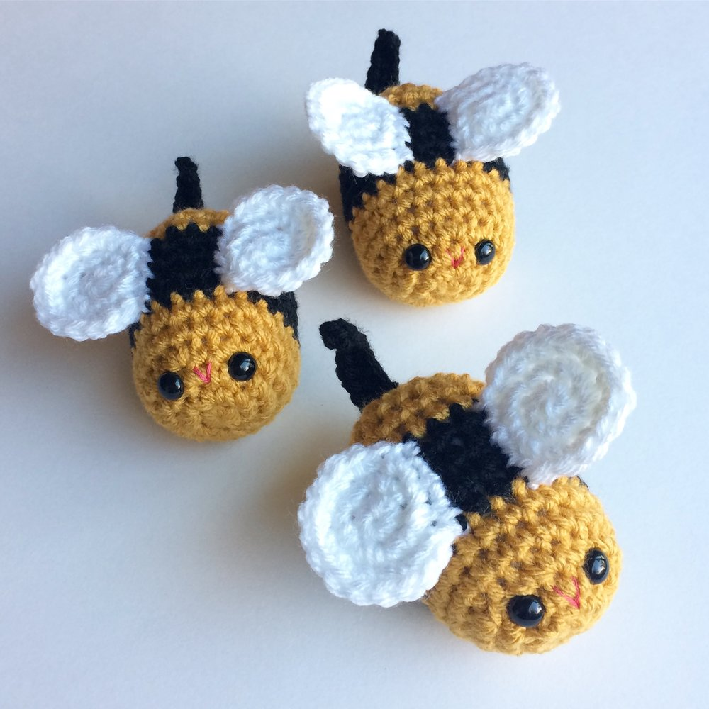 "I started a new ""bug series"" this year and designed these little bees along with snails and a ladybug. Hopefully I'll have time to design some more!"