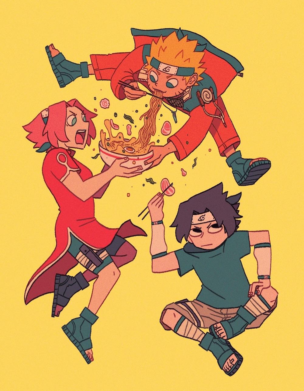 Team 7 Ramen  Inspired by the Naruto series   digital