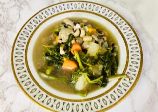 vegan black eyed pea soup