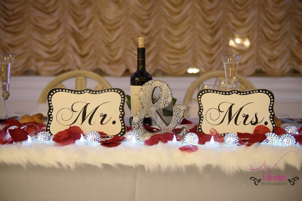 ... Winter Wonderland Bride And Groom Table Decor ...