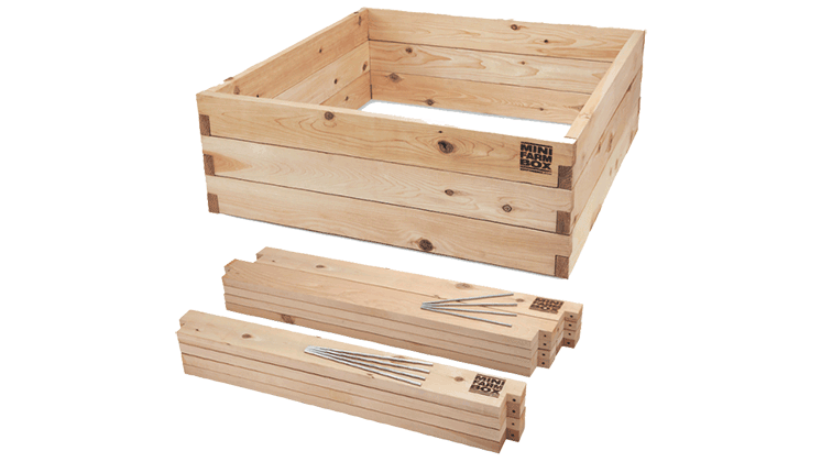 Highest quality cedar boxes from Mini Farm Box ensure a beautiful, long lasting garden.