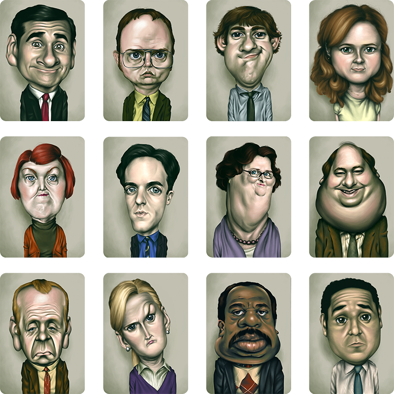 <b>Series of Caricatures</b><br>MFA Thesis<br>