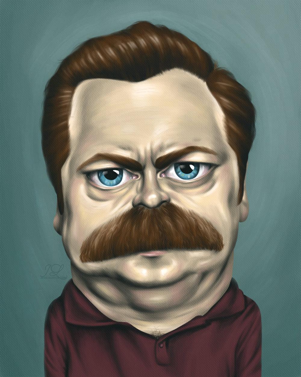 Ron Swanson Caricature-SS.jpg