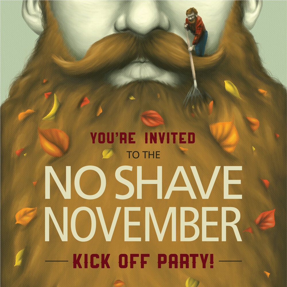 <b>No Shave November</b><br>Invitation<br>