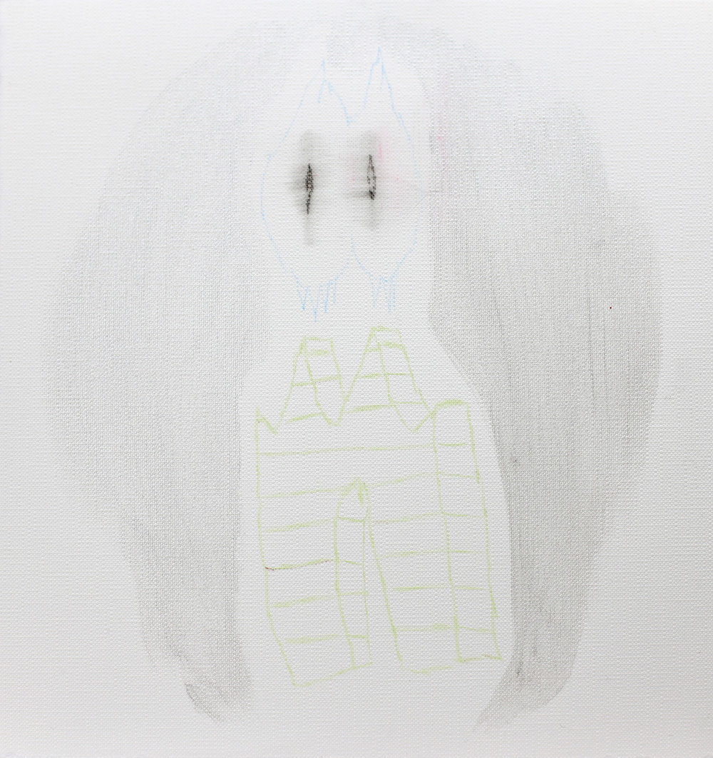 Vulnerable drawing #170    2012, Acrylic and coloured pencil on terra paper, 20x20cm