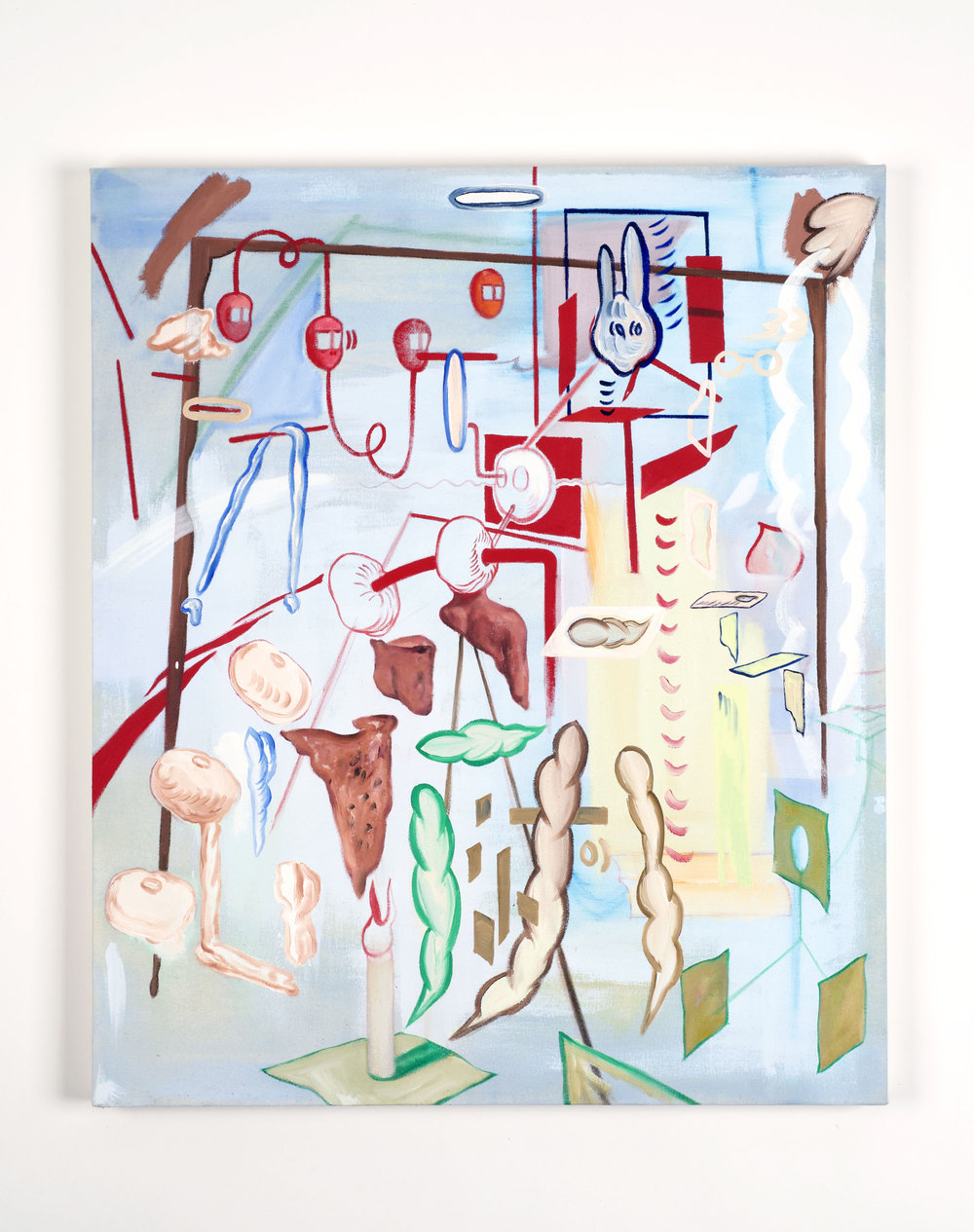 Explanatory speech    2017, Oil on canvas, 83x70cm
