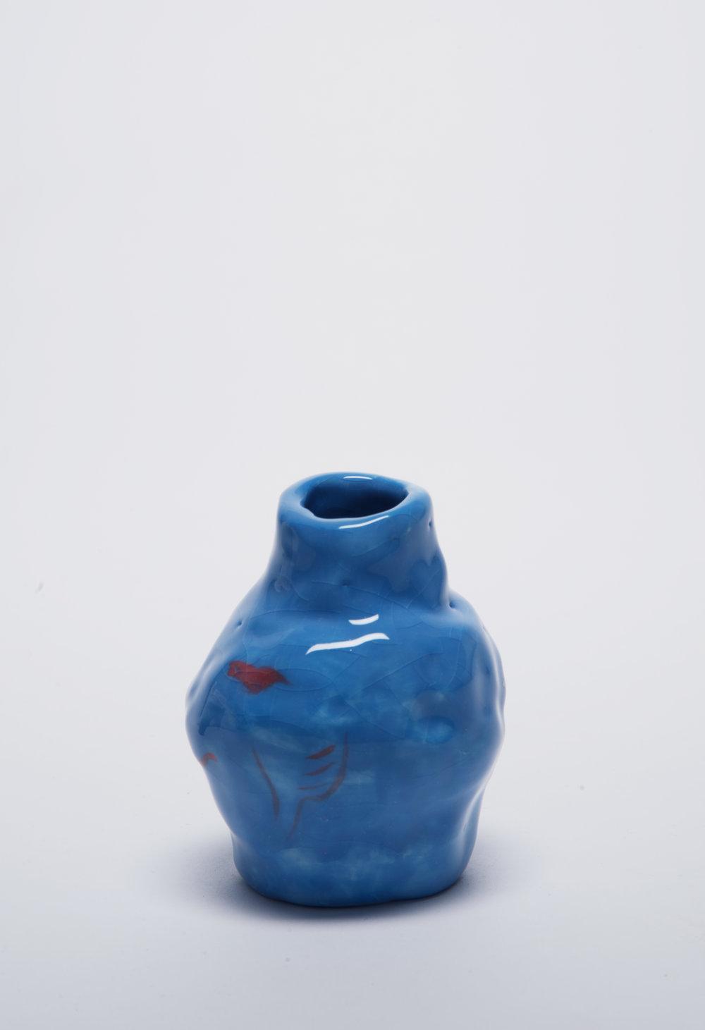 Untitled    2017, Glazed ceramic, 8x8x13cm