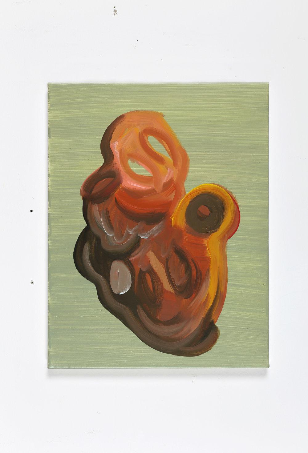 Mr. brushstroke    2018, Oil on canvas, 41x31.5cm