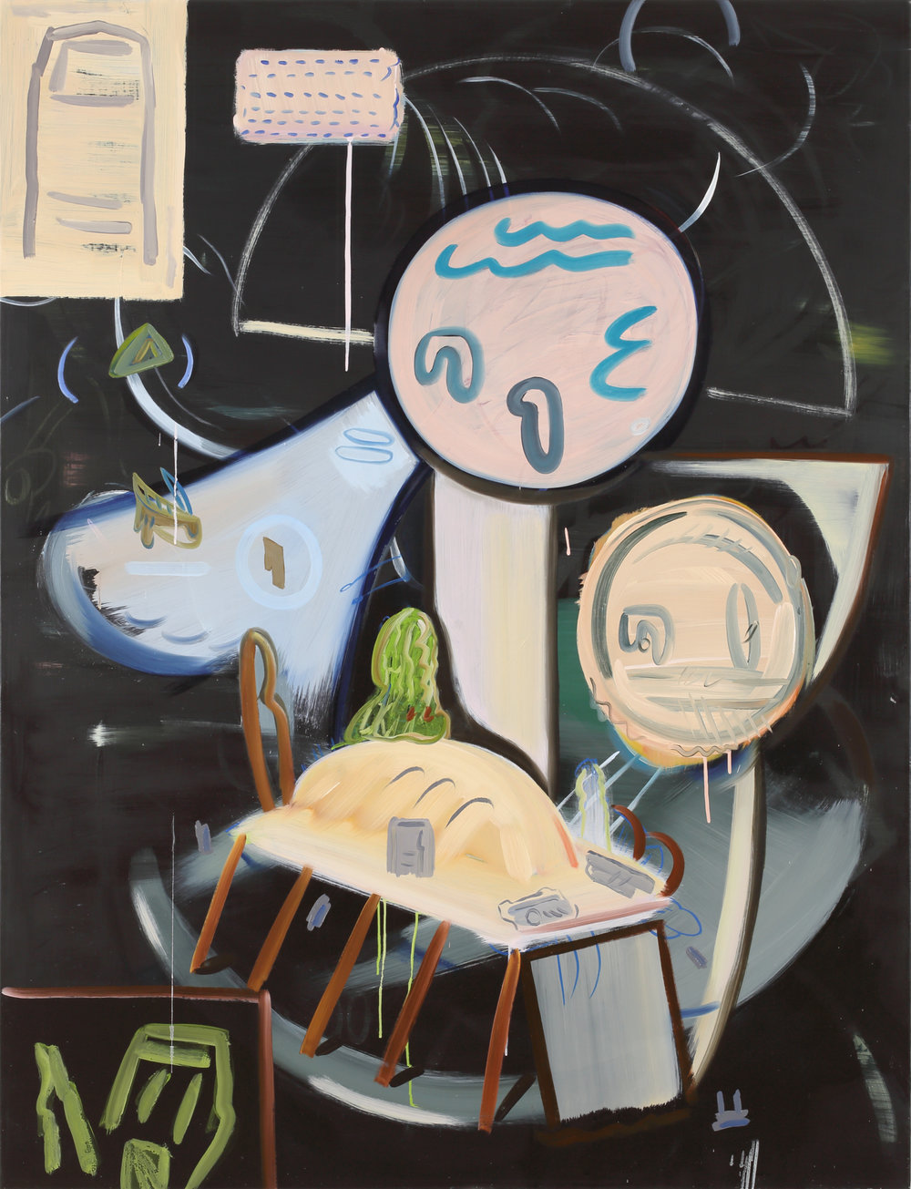 Hide and seek    2019, Oil on canvas, 145x112cm
