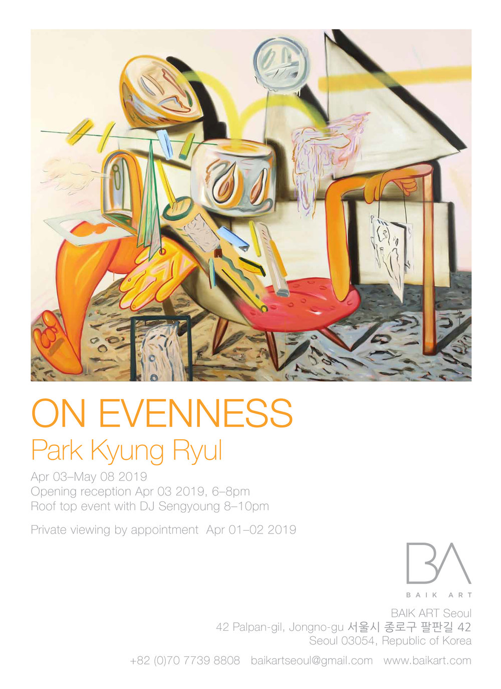 - On EvennessBaik Art Seoul Gallery03 April -08 May 2019