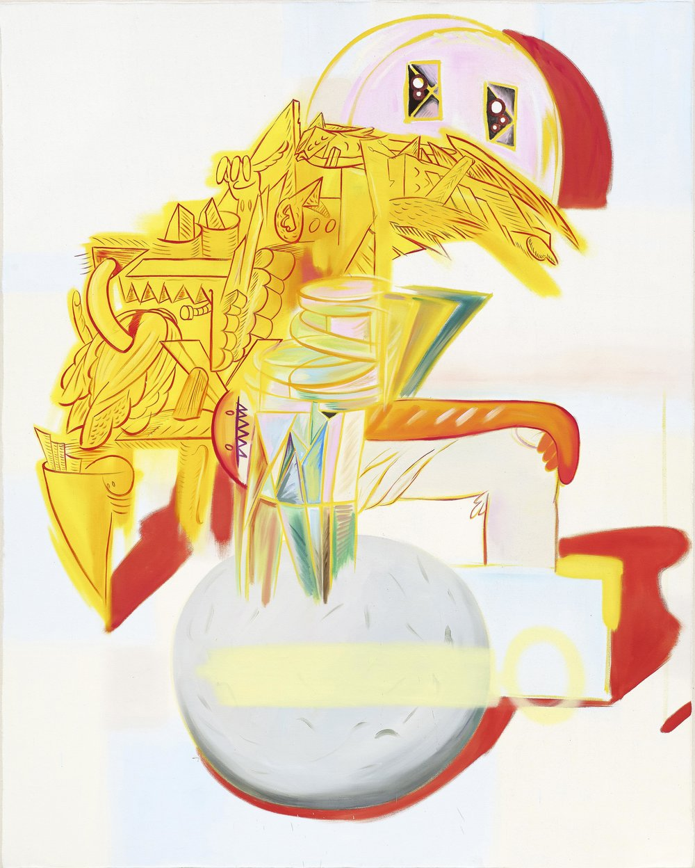 Revolving figure    2017, Oil on canvas, 250x200cm