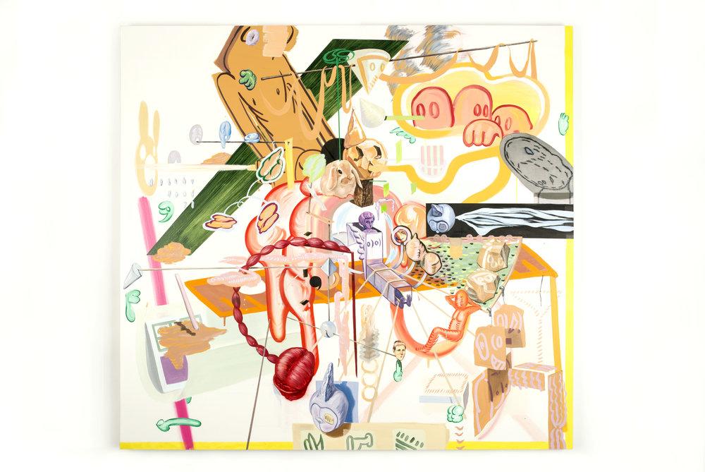 More complex world    2017, Oil on canvas, 140x150cm