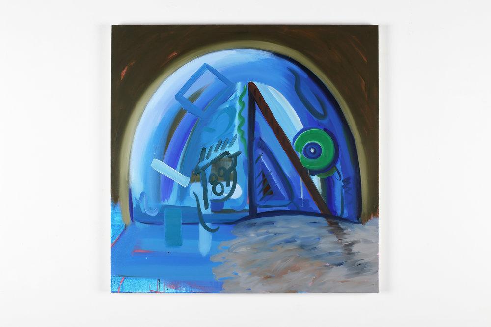 The eyes of an artist    2018, Oil on canvas, 80x80cm