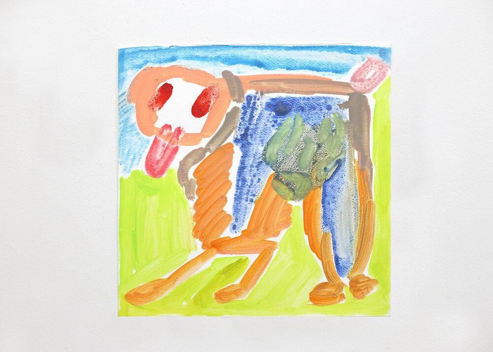Vulnerable painting #123    2019, Watercolour on paper, 30.5x30.5cm