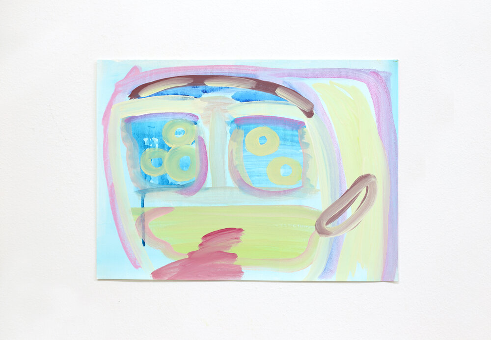 Smiling face (V/P #126)    2019, Watercolour on paper, 40.5x30.5cm