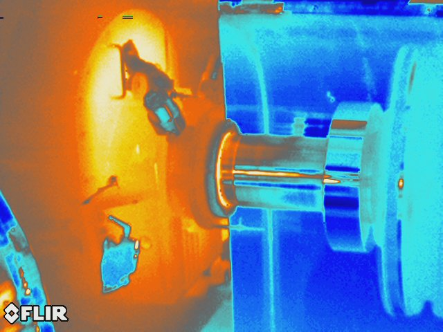 Acid Gas Compressor Motor Bearing Infrared Image.